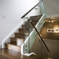 Frameless Glass Balustrade with round handrail